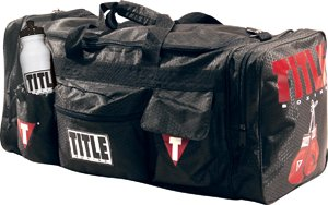 Title Boxing Deluxe Gear Bag with water bottle