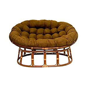 Double Papasan Chair With Microsuede Cushion Kitchen Dining