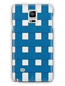 YuBingo Blue Square Pattern Mobile Case Back Cover for Samsung Galaxy Note 4