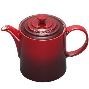 Le Creuset Stoneware Grand Teapot, 1.3 L - Cerise