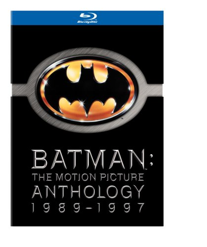 Cover art for  Batman: The Motion Picture Anthology, 1989-1997 (Batman / Batman Returns / Batman Forever / Batman & Robin) [Blu-ray]