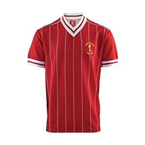 Liverpool FC Rome 1984 Official Retro Kit Shirt Red S - 2XL Gift Jersey Large by Liverpool