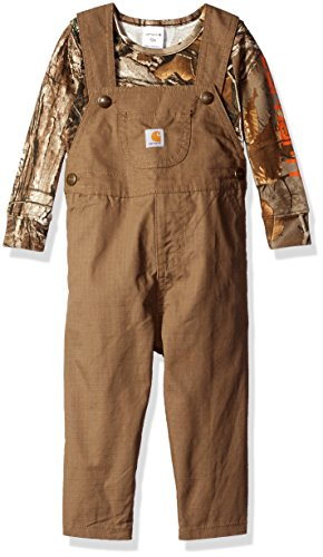 Carhartt Baby Boys Overall Set, Canyon Brown, 12 Months