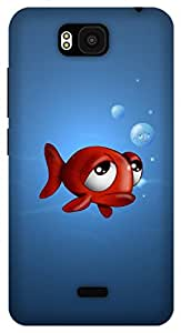 The Racoon Lean fish with frog eyes hard plastic printed back case / cover for Huawei Honor Bee