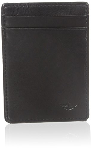 dockers-mens-wide-slim-magnetic-front-pocket-wallet-black-one-size