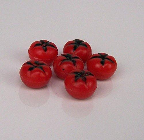 6 St. Mini-Tomaten . ca 1cm.. Krippenminiatur, Weihnachtskrippe. W070