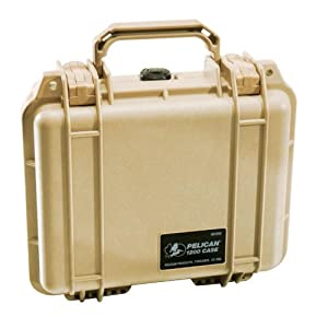 Pelican 1200 Case with Foam for Camera - Desert Tan