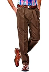 Haggar Men's Big/Tall Work to Weekend Hidden Expandable-Waist Pleat-Front Pant