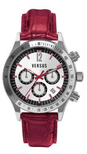 Versus - SGC03 0012 - Montre Homme - Quartz Chronographe - Bracelet Cuir Rouge
