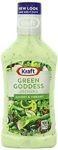 Kraft Seven Seas Green Goddess Dressing, 16-Ounce Plastic Bottles (Pack of 6)