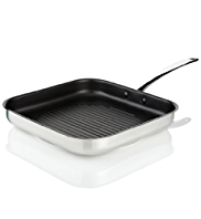 28cm Stainless Steel Griddle Pan