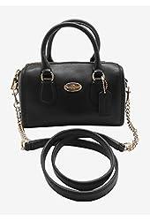 Coach Crossgrain Leather Baby Bennet Mini Satchel Crossbody Bag 34641