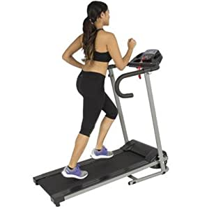 Home Gym, Fitness Equipment-Treadmill-Black 500W Portable Folding