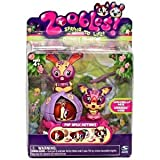 Zoobles Dog and Bunny + Happitats (Colors Vary)