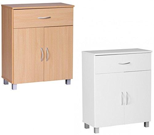 FineBuy-Sideboard-1-Schublade-2-Tren-60-cm-breit-75-cm-hoch-30-cm-tief-Kommode-Anrichte-aus-Holz-Bro-Esszimmer-Flur-Wohnzimmer-Schubladen-Regal-Schlafzimmer-Schubladenkommode-Mehrzweckschrank-Wei