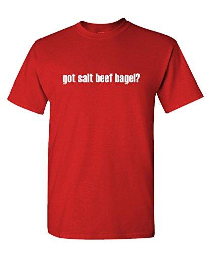 Got Salt Beef Bagel? - Mens Cotton T-Shirt, M, Red