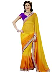 Bharat Plaza Red Kamarband Style Saree
