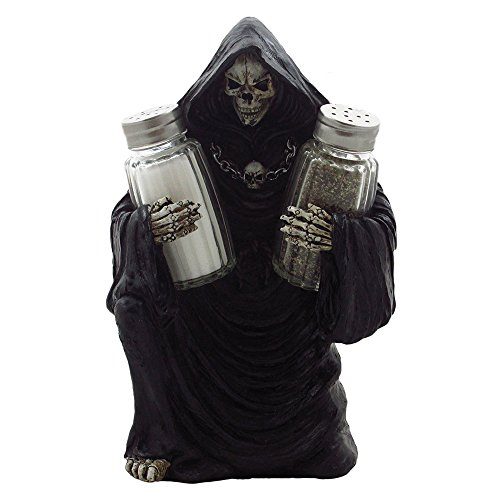 Grim Reaper Glass Salt and Pepper Shaker Set