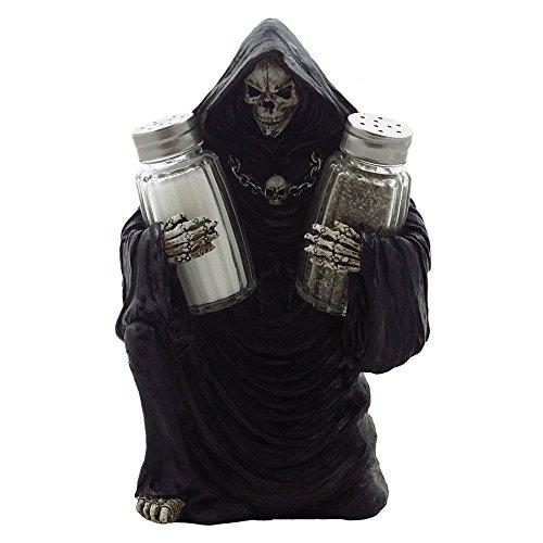 Grim Reaper Glass Salt and Pepper Shaker Set