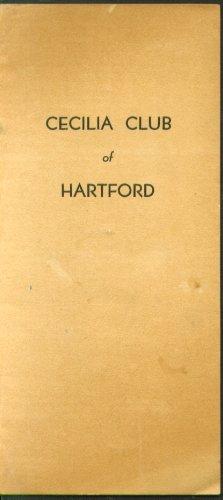 Cecelia Club Hartford Program Hartford Ct Bushnell 1933