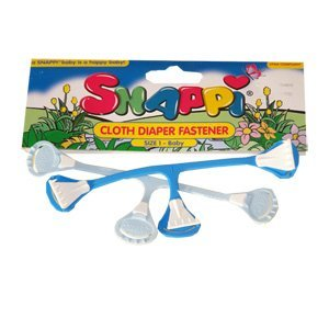 Image: Snappi Diaper Fasteners - 2 Pack - SAFER THAN PINS - no more pinpricks for baby or parent!
