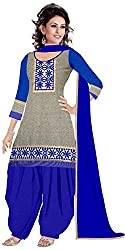 Expert Women's New Fashion Designer Fancy Wear Todays Low Price Best Special Offer All Type Of Modern Gray Colored Embroidered Patiyala Salwar Suit