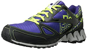 Reebok Women's ZigKick Trail 1.0 Running Shoe,Fearless Purple/Black/Neon Yellow/Steel,8 M US