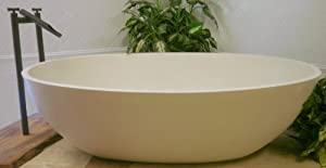 Luxury freestanding soaking Bathtub in Almond matte finish (no overflow)