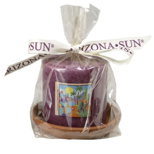 Arizona Sun Scented Candle With Clay Holder - Desert Floral Vacation Fragrance - Perfume - Home - Office - Smells Great - Aromatherapy - Terracotta