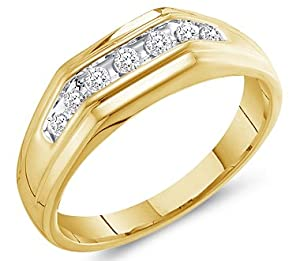 10k Yellow Gold Diamond Wedding Ring
