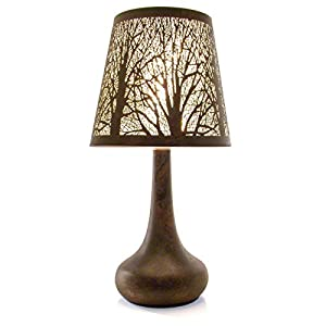 Bronze Effect Metal Touch Operated Lamp With Tree Design from Great Ideas By Post EshopRetailLtd