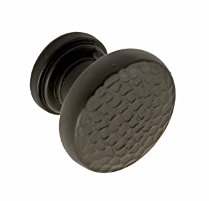 Fusion Hardware 132-ORB Bordeaux Collection Round Hammered Cabinet Knob, Bordeaux, Oil Rubbed Bronze