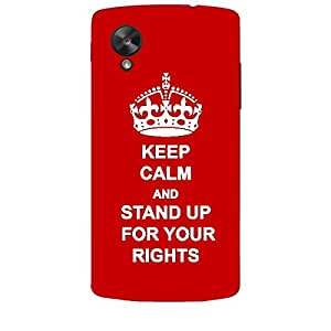 Skin4gadgets Keep Calm and STAND UP FOR YOUR RIGHTS - Colour - Red Phone Skin for LG NEXUS 5
