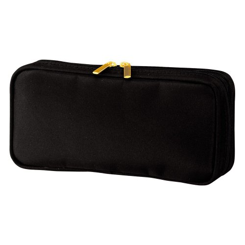 Trina Cosmetic Bags - Aura Serum Gold Multi Pouch Cosmetic Bag Black And Gold