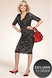 Twiggy for M&S Woman Lace Print Dress with Secret Support&#8482;