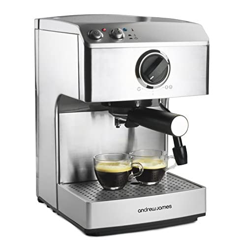 Andrew James 15 Bar Pump Barista Coffee Maker With 2 Year Warranty - For Professional Espressos, Lattes And Cappuccinos...