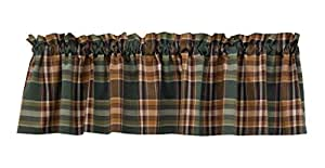 """Park Designs Pinecone Patch Lined Valance, 60 x 14"""""""