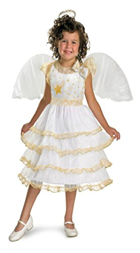 Girls Angel Belle Kids Child Fancy Dress Party Halloween Costume