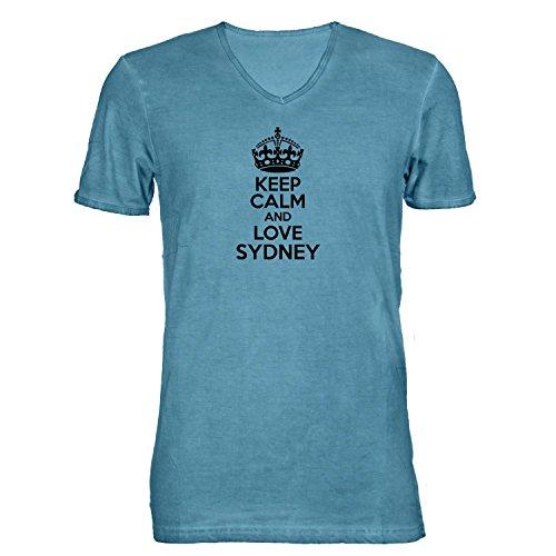 t-shirt-da-uomo-scollo-a-v-keep-calm-and-love-sydney-nostalgia-idea-regalo-australia-hellblau-xxl