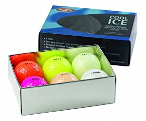 Cool Ice Balles de golf Pack de 6 Mélangé