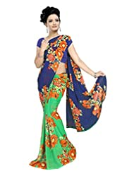 Designer Sari Graceful Printed Casual Wear Faux Georgette Saree By Triveni