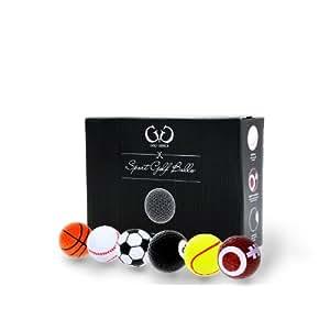 Golf Genius - 6 Novelty Balles de Golf - *Cadeau parfait*