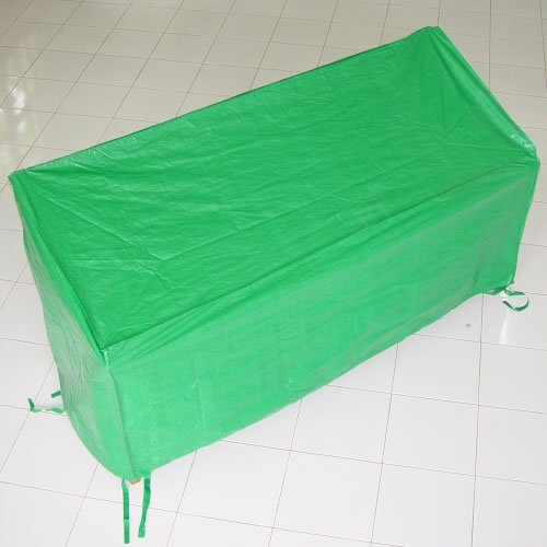 Lightweight PE Green Waterproof Weather Cover For Sannox 2 Seater Garden / Patio Bench Seat