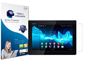 """Tech Armor Sony Xperia Z 10.1"""" Tablet Premium High Definition (HD) Clear Screen Protector with Lifetime Warranty [2-PACK] - Retail Packaging"""