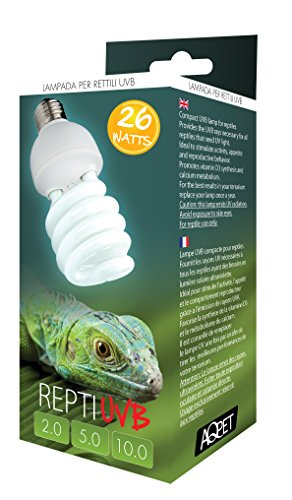 Lampada uvb uva 10 0 10 repti uvb compact lampada per for Lampada raggi uvb per tartarughe
