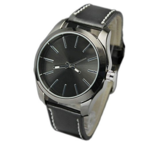 WLM Elegant Women Men Watch on Sale PU Leather Quartz Sport Analog Wrist Watch Watches Clock Brown