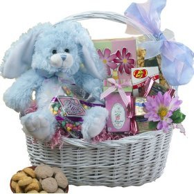 SCHEDULE YOUR DELIVERY DAY My Special Bunny Easter Gift Basket * Blue or Purple *