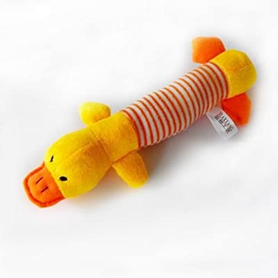 Pecute Pet Puppy Dog Chew Toys Squeaker Squeaky Plush Sound Pig Elephant Duck New Dog Toys