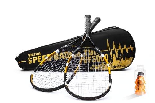 Vicfun 5000 Speed-Badminton Set - Black/Gold/White