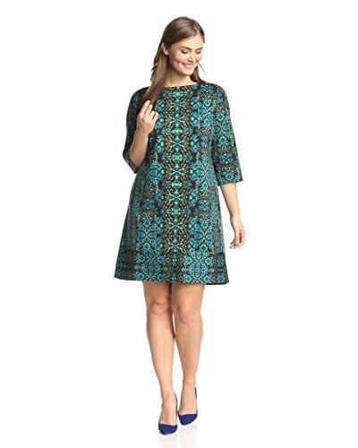London Times Plus Women's Printed Sheath Dress